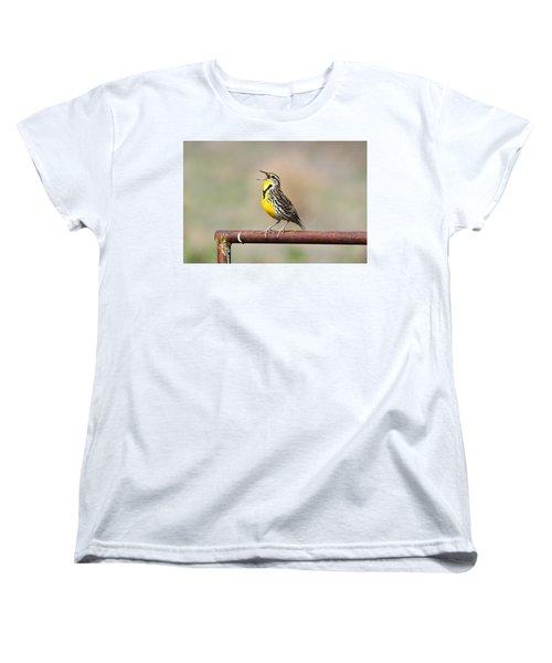 A Morning Song Women's T-Shirt (Standard Cut) by Michael Morse