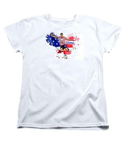 Abby Wambach Women's T-Shirt (Standard Cut) by Semih Yurdabak