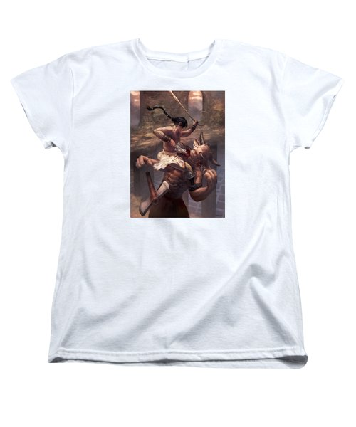 Above The Labyrinth  Women's T-Shirt (Standard Cut) by Ethan Harris