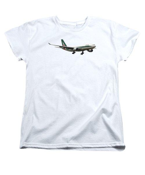 Alitalia, Airbus A330-202. Women's T-Shirt (Standard Cut) by Amos Dor