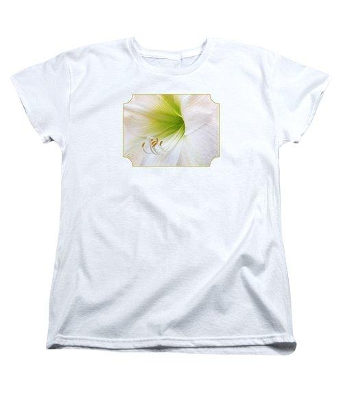 Alluring Amaryllis Women's T-Shirt (Standard Cut) by Gill Billington