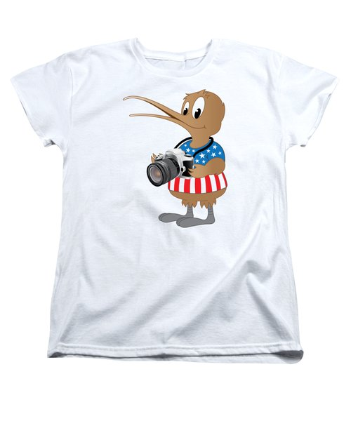 American Kiwi Photo Women's T-Shirt (Standard Cut) by Mark Dodd