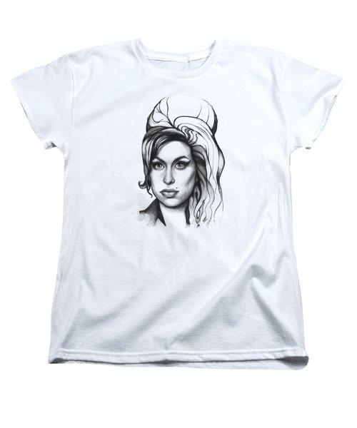 Amy Winehouse Women's T-Shirt (Standard Cut) by Olga Shvartsur