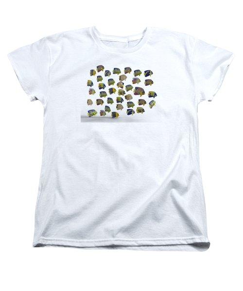 Angels Women's T-Shirt (Standard Cut) by Betsy Knapp