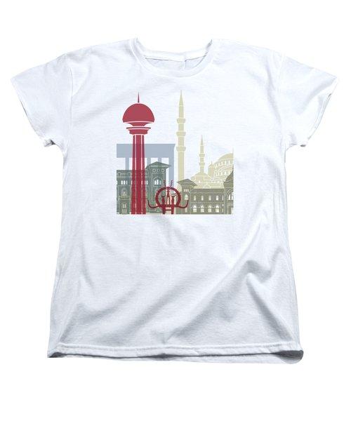 Ankara Skyline Poster Women's T-Shirt (Standard Cut) by Pablo Romero