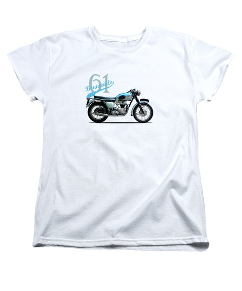 Triumph Bonneville Women's T-Shirt (Standard Cut) by Mark Rogan