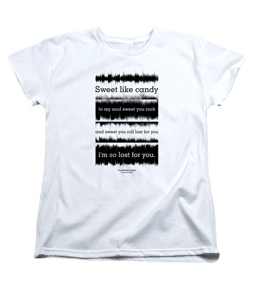 Lyrics Music Waveform Poster Women's T-Shirt (Standard Cut) by Lab No 4 - The Quotography Department