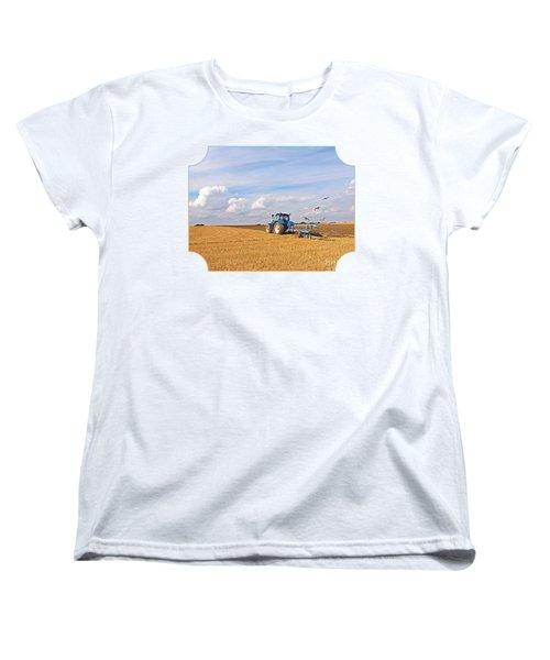 Ploughing After The Harvest Women's T-Shirt (Standard Cut) by Gill Billington