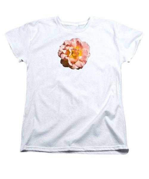 Peach Rose Women's T-Shirt (Standard Cut) by Brian Manfra