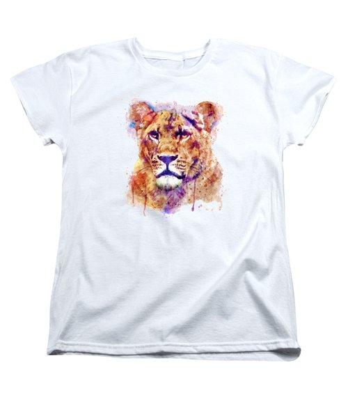 Lioness Head Women's T-Shirt (Standard Cut) by Marian Voicu