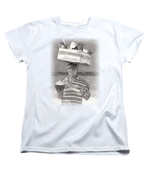 Island Street Vendor Women's T-Shirt (Standard Cut) by Tom Podsednik