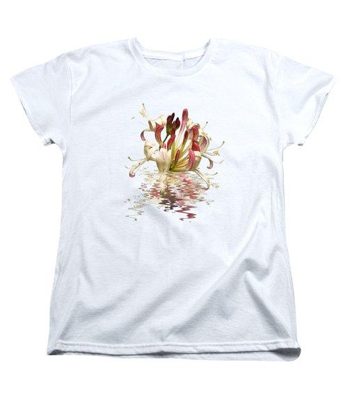 Honeysuckle Reflections Women's T-Shirt (Standard Cut) by Gill Billington