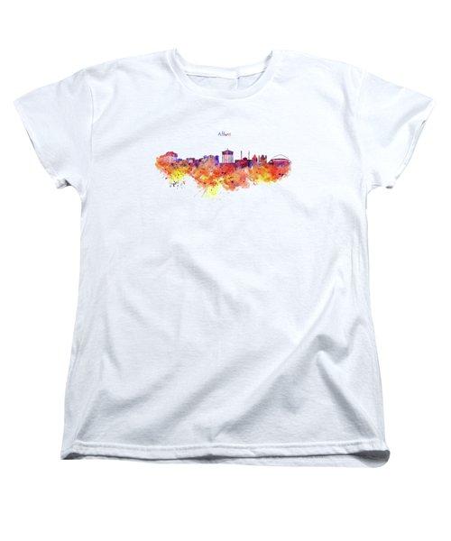 Athens Skyline Women's T-Shirt (Standard Cut) by Marian Voicu