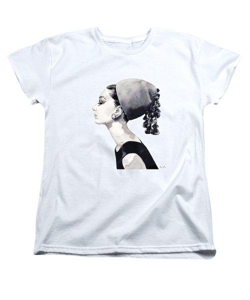 Audrey Hepburn For Vogue 1964 Couture Women's T-Shirt (Standard Cut) by Laura Row