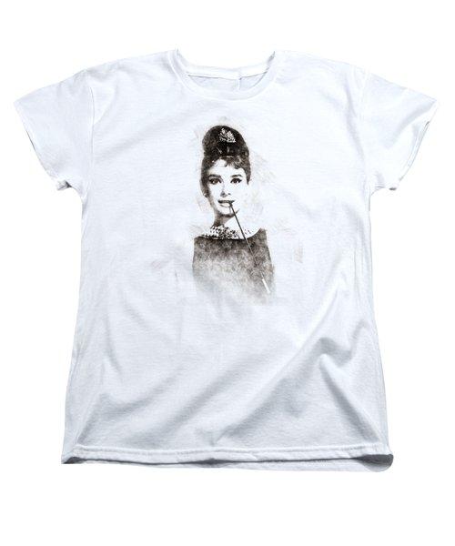 Audrey Hepburn Portrait 01 Women's T-Shirt (Standard Cut) by Pablo Romero