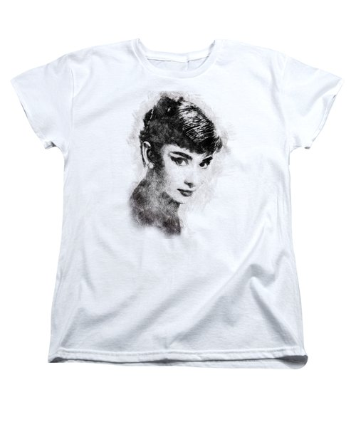 Audrey Hepburn Portrait 03 Women's T-Shirt (Standard Cut) by Pablo Romero