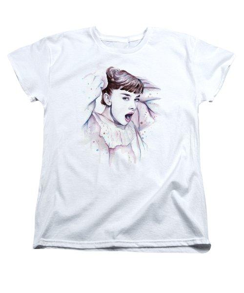 Audrey - Purple Scream Women's T-Shirt (Standard Cut) by Olga Shvartsur