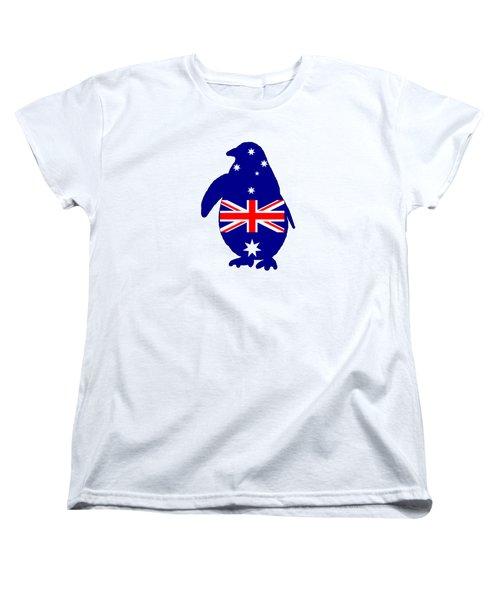 Australian Flag - Penguin Women's T-Shirt (Standard Cut) by Mordax Furittus
