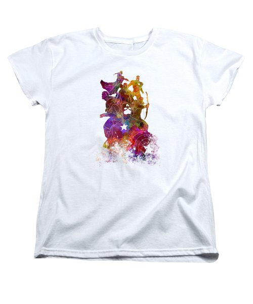 Avengers 02 In Watercolor Women's T-Shirt (Standard Cut) by Pablo Romero
