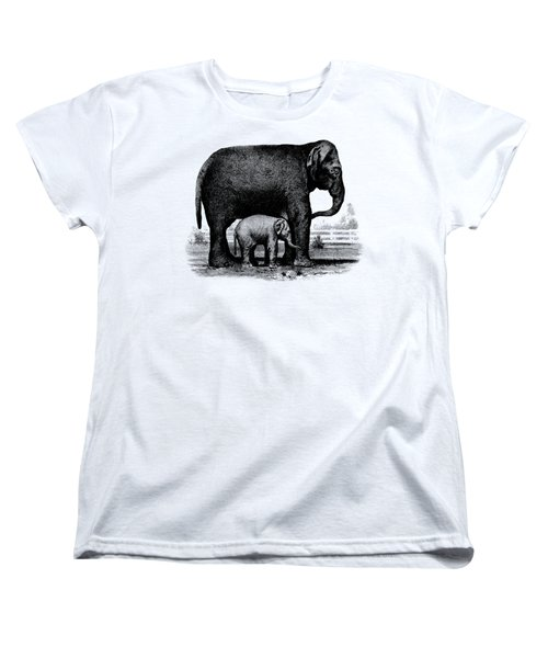 Baby Elephant T-shirt Women's T-Shirt (Standard Cut) by Edward Fielding