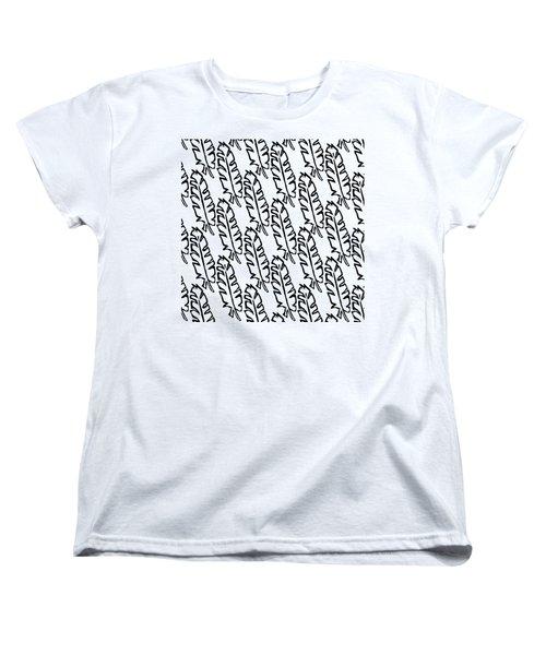 Banana Leaf Outline Women's T-Shirt (Standard Cut) by Cortney Herron