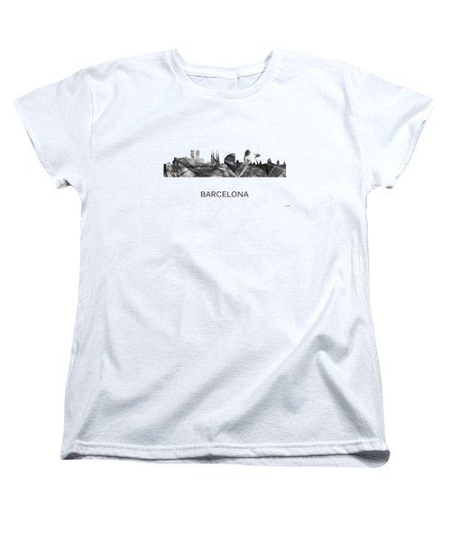 Barcelona Spain Skyline Women's T-Shirt (Standard Cut) by Marlene Watson
