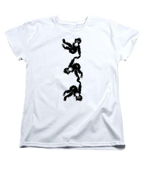 Barrel Full Of Monkeys T-shirt Women's T-Shirt (Standard Cut) by Edward Fielding
