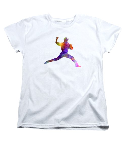 Baseball Player Throwing A Ball 01 Women's T-Shirt (Standard Cut) by Pablo Romero