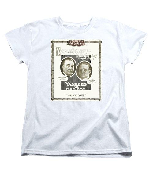 Baseball Program, 1923 Women's T-Shirt (Standard Cut) by Granger