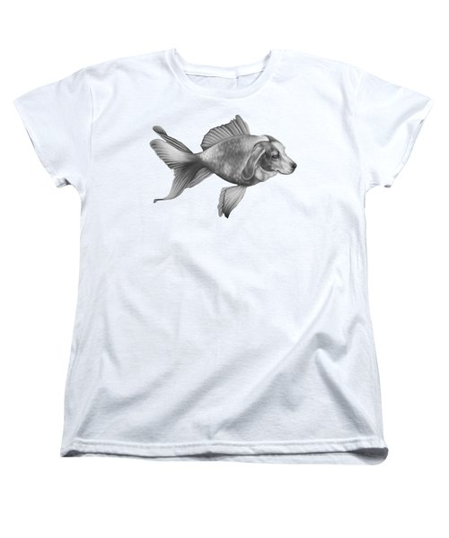 Beaglefish Women's T-Shirt (Standard Cut) by Courtney Kenny Porto