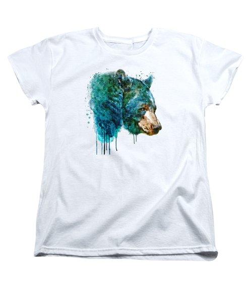 Bear Head Women's T-Shirt (Standard Cut) by Marian Voicu