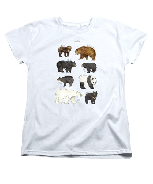 Bears Women's T-Shirt (Standard Cut) by Amy Hamilton