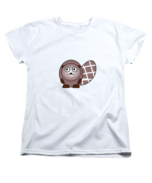 Beaver - Animals - Art For Kids Women's T-Shirt (Standard Cut) by Anastasiya Malakhova