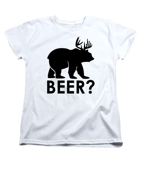 Beer? Women's T-Shirt (Standard Cut) by Frederick Holiday