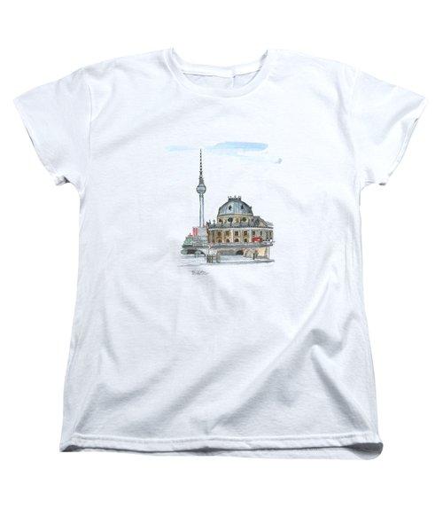 Berlin Fernsehturm Women's T-Shirt (Standard Cut) by Petra Stephens