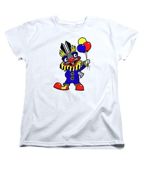 Binky The Bunny Clown Women's T-Shirt (Standard Cut) by Bizarre Bunny
