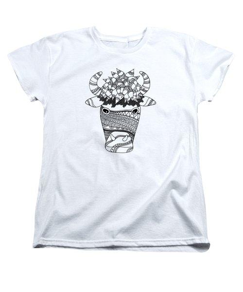 Bison Women's T-Shirt (Standard Cut) by Sarah Rosedahl