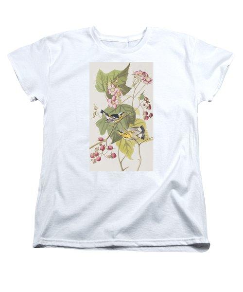 Black And Yellow Warblers Women's T-Shirt (Standard Cut) by John James Audubon
