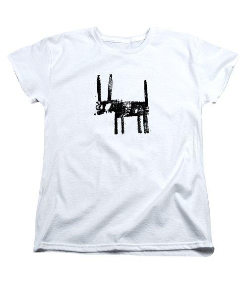 Black Women's T-Shirt (Standard Cut) by H James Hoff