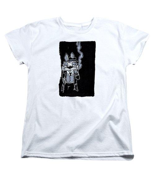 Blake Burns Detective Bunny Women's T-Shirt (Standard Cut) by Bizarre Bunny