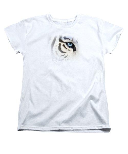 Blue Eye Women's T-Shirt (Standard Cut) by Lucie Bilodeau