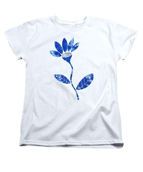 Blue Flower Women's T-Shirt (Standard Cut) by Frank Tschakert