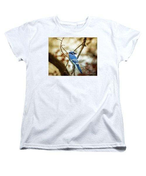 Blue Jay Women's T-Shirt (Standard Cut) by Robert Frederick