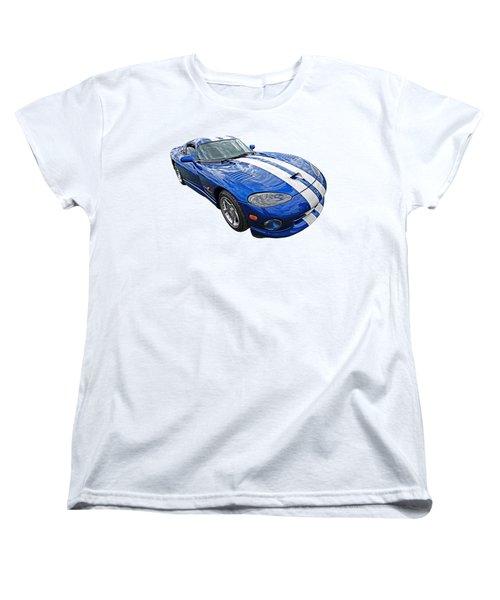 Blue Viper Women's T-Shirt (Standard Cut) by Gill Billington