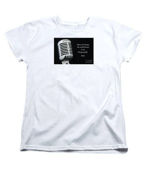 Bono On Music Women's T-Shirt (Standard Cut) by Paul Ward