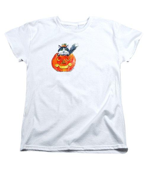 Boo Women's T-Shirt (Standard Cut) by Shelley Wallace Ylst