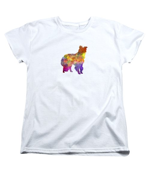 Border Collie In Watercolor Women's T-Shirt (Standard Cut) by Pablo Romero