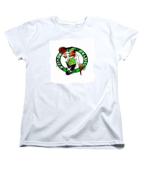 Boston Celtics 2b Women's T-Shirt (Standard Cut) by Brian Reaves
