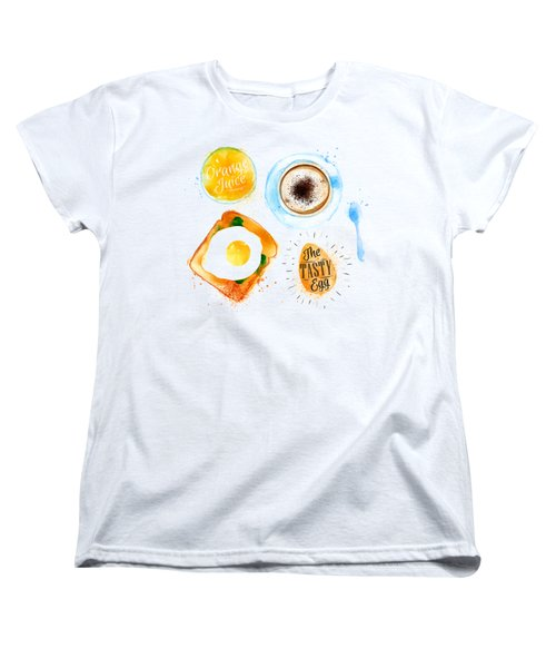 Breakfast 02 Women's T-Shirt (Standard Cut) by Aloke Design