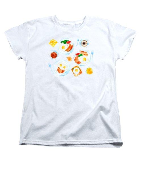 Breakfast 05 Women's T-Shirt (Standard Cut) by Aloke Design